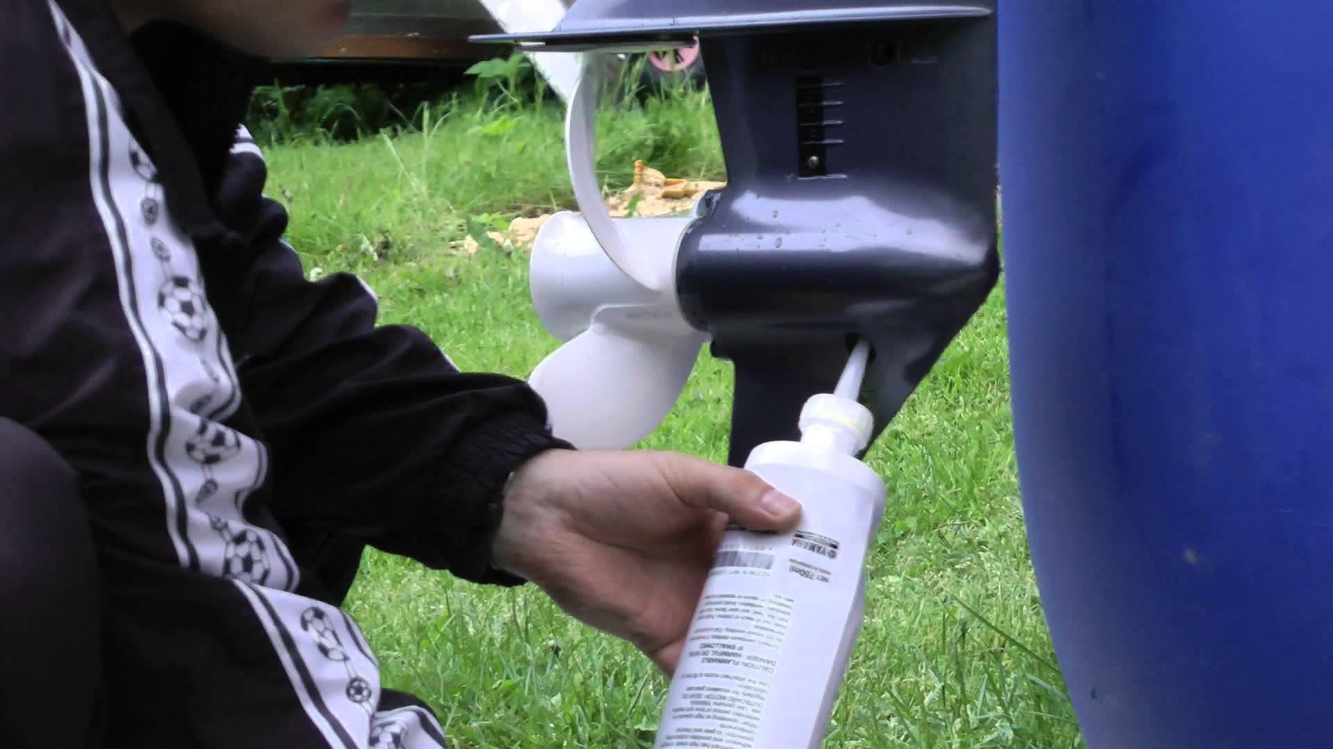 Замена масла в редукторе лодочного мотора самостоятельно - страница 2