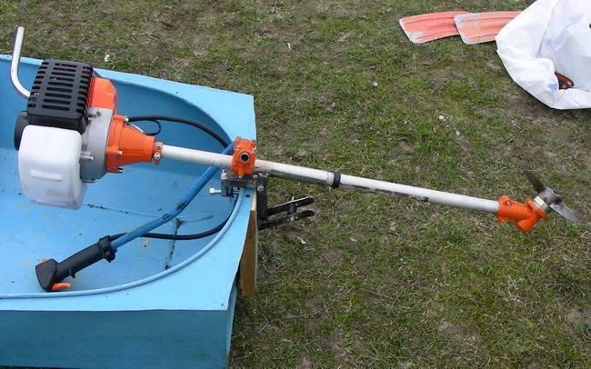 Лодочный мотор из триммера – переделка своими руками