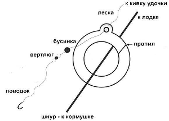Ловля леща на кольцо: как сделать снасть кольцовку своими руками
