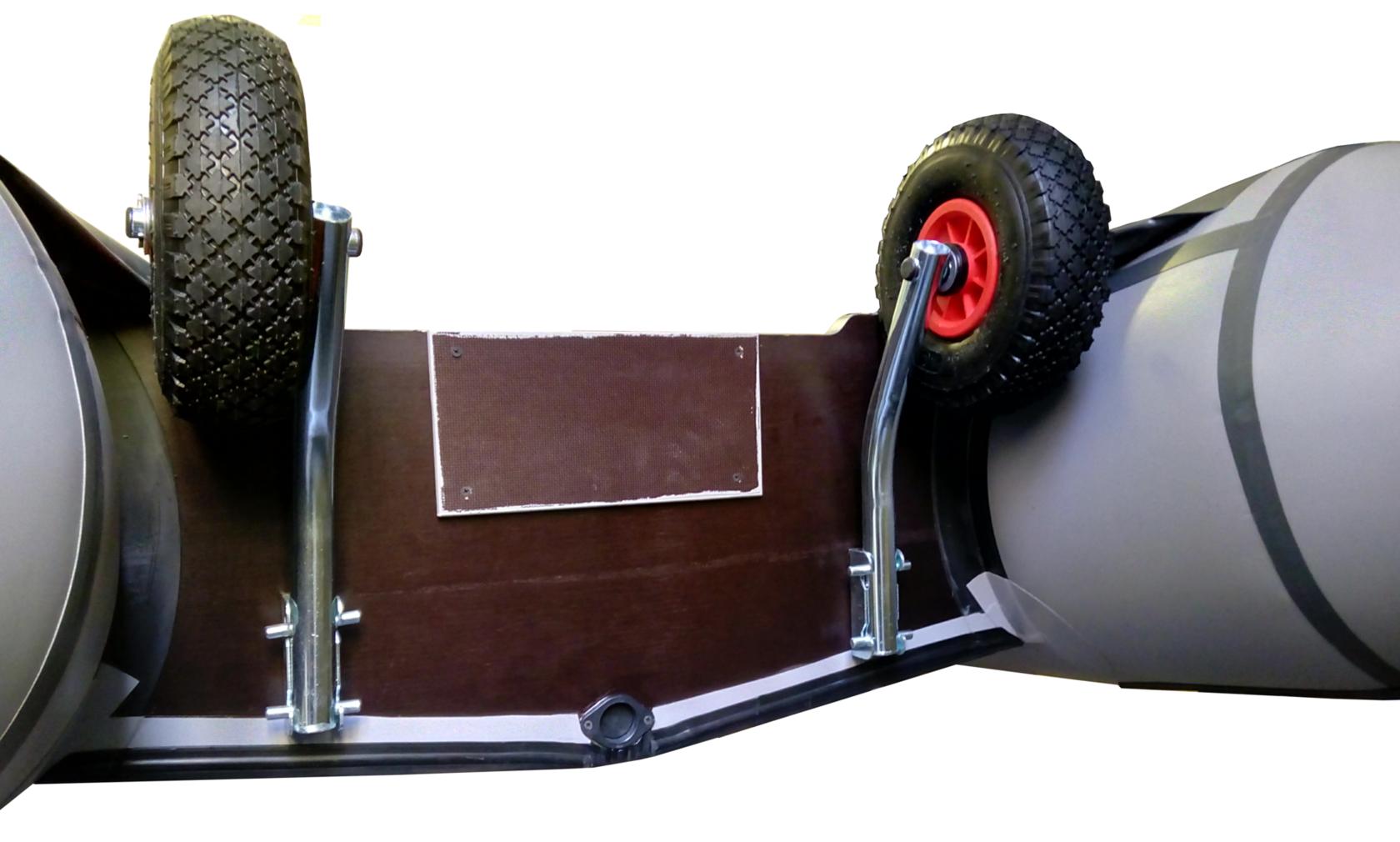 Быстросъемные транцевые колеса для лодки пвх своими руками