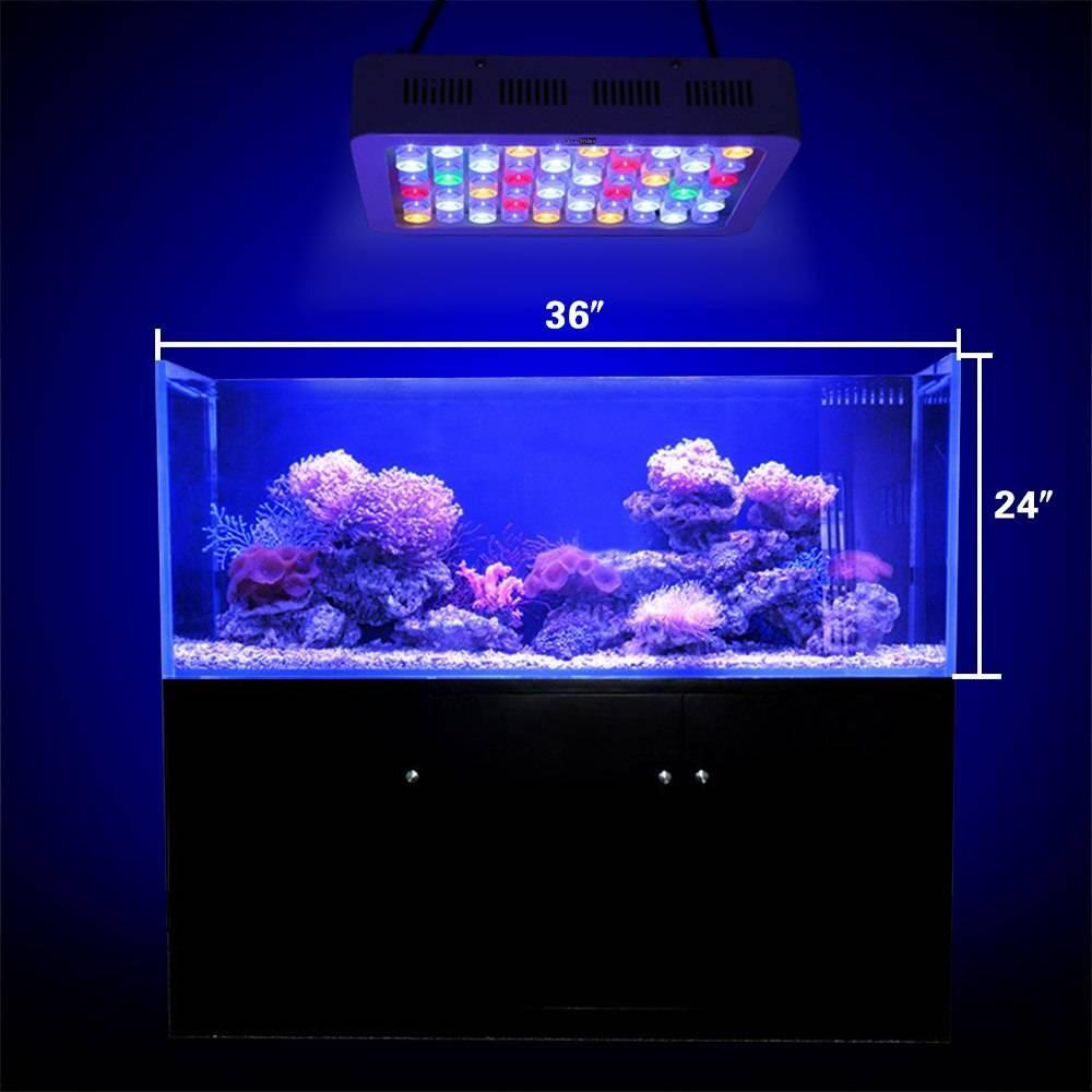 Светодиодные лампы для аквариума: расчет мощности, как сделать своими руками