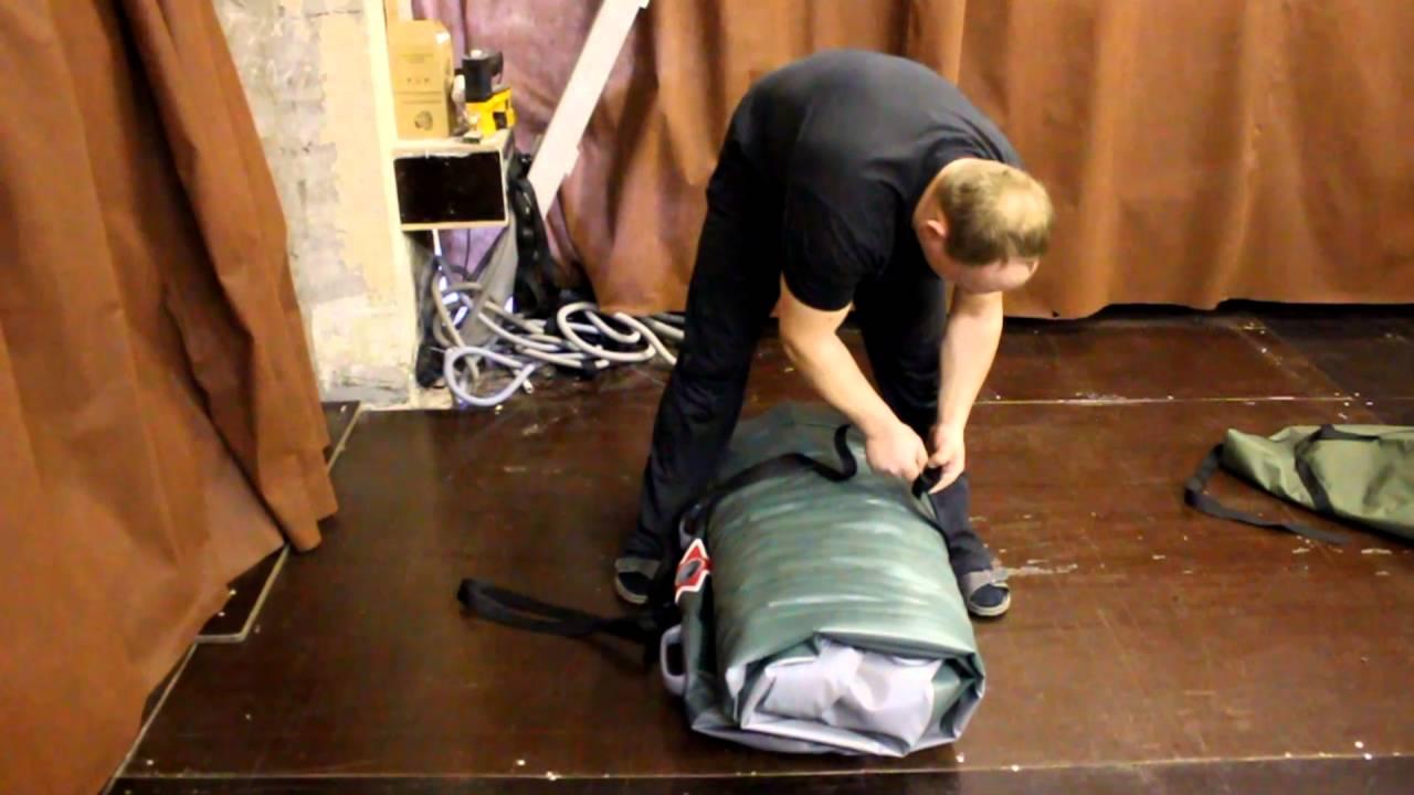 Как правильно свернуть и упаковать надувную лодку пвх