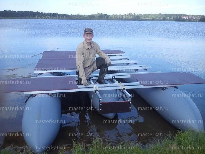 Катамаран для рыбалки своими руками, моторый катамаран