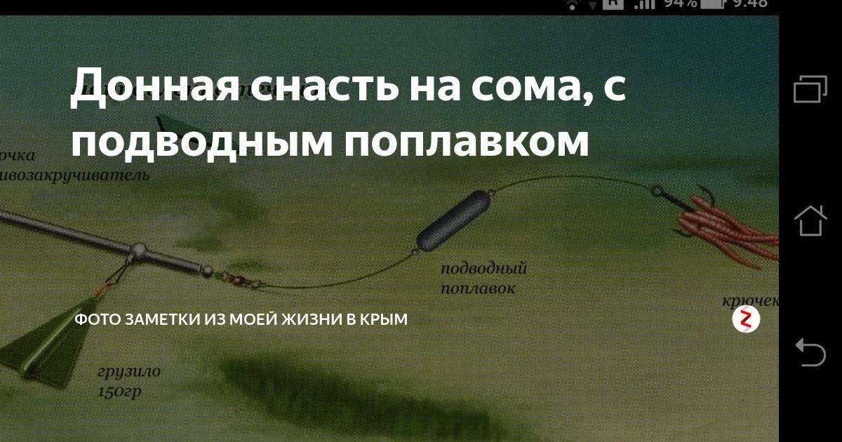 Снасти и техника ловли сома