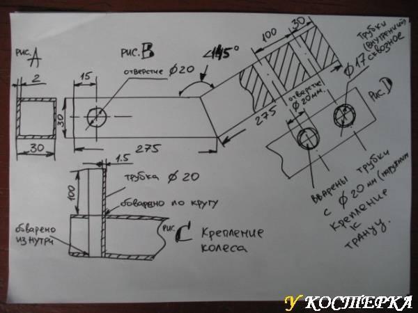 Транцевые колеса: описание и особенности изготовления своими руками для лодки пвх
