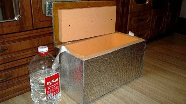Зимний пенопластовый ящик-термос своими руками