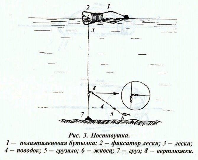 Самодельная поставушка на щуку - летняя жерлица