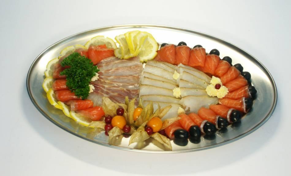 Рыбная нарезка на праздничный стол, фото, оформление