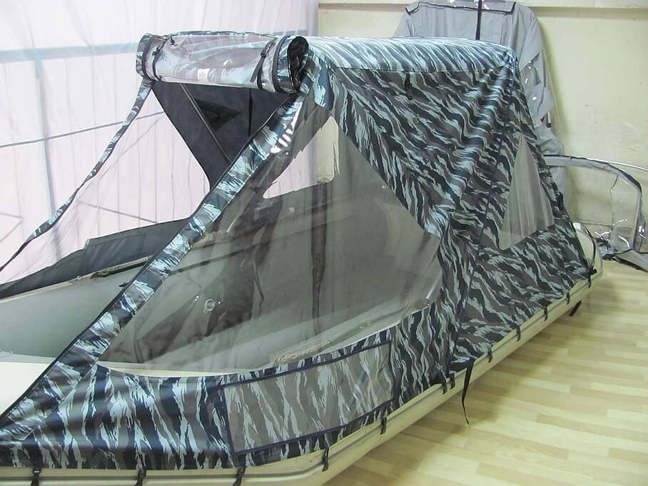 Как сделать тент на лодку пвх?