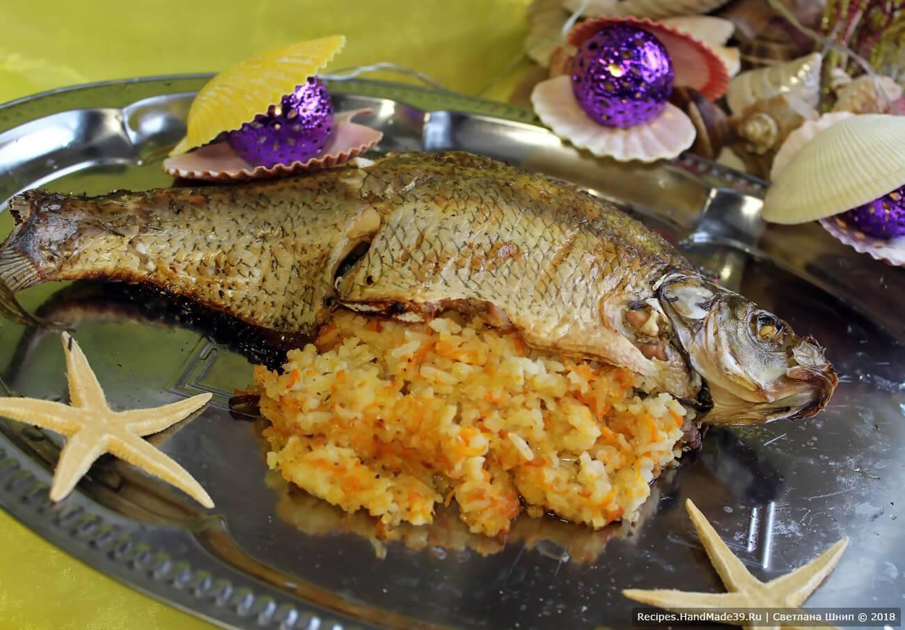 Фаршированная рыба - как приготовить целиком и запечь в духовке по пошаговым рецептам с фото