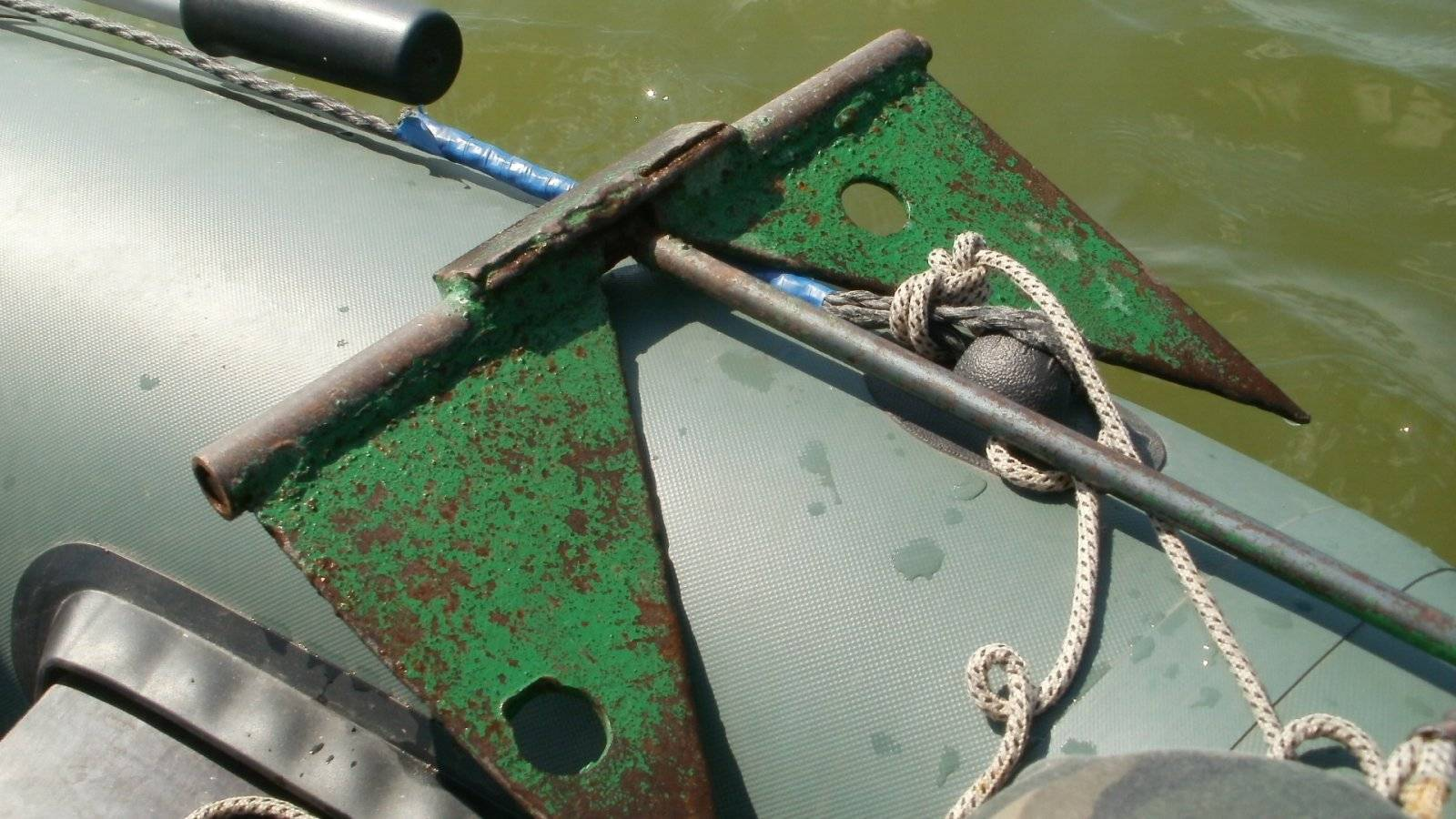 Виды якорей для лодки пвх