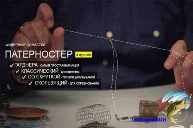 Схемы вязания петли Гарднера (Патерностера) для фидера