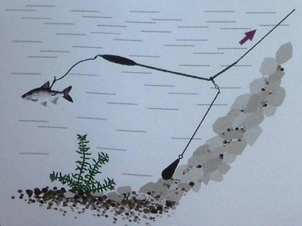 Удочка донка с поплавком и кормушкой - полудонка