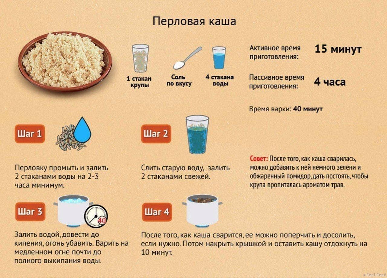 Как варить перловую кашу на воде – пошаговый рецепт
