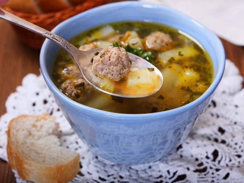 Суп с рыбными фрикадельками – кулинарный рецепт