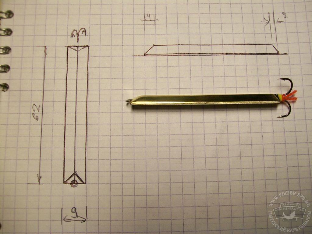 Блесны своими руками: как сделать в домашних условиях, чертежи для самодельных вертушек