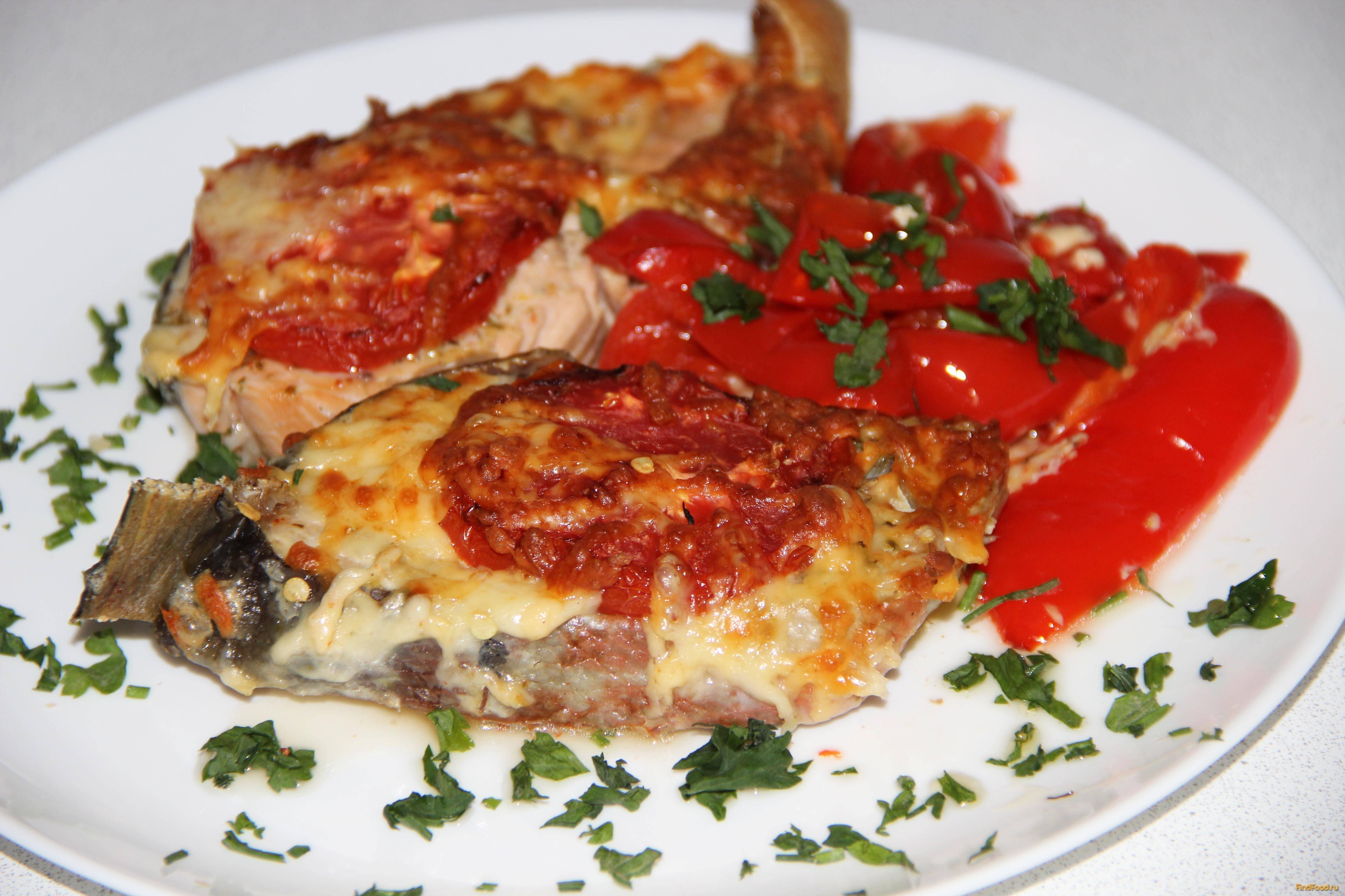 Рыба запечённая в духовке с овощами и сыром. п/о, видео.