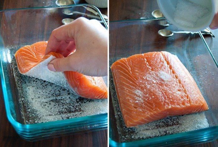 Засолка лосося в домашних условиях, рецепт пошаговый