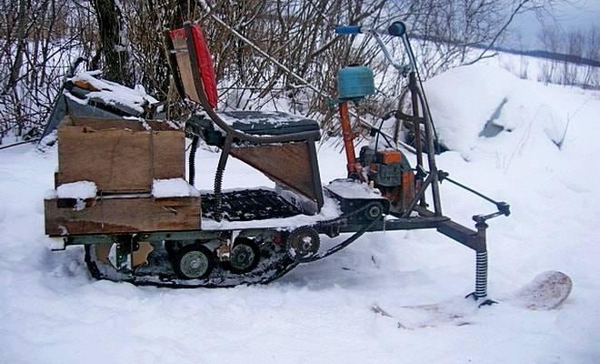 Снегоуборщик из бензопилы. схема сборки, детали и комплектующие