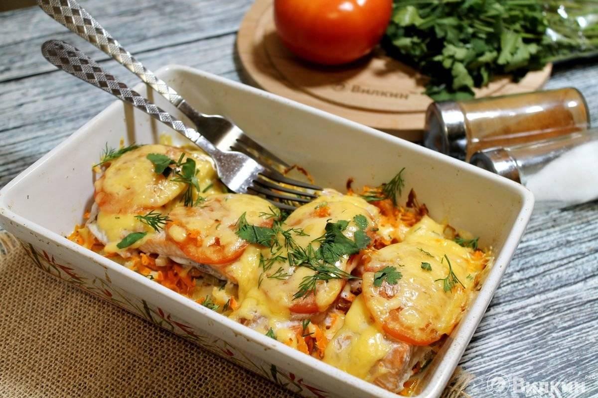 Рецепт приготовления запеченной рыбы с овощами в духовке