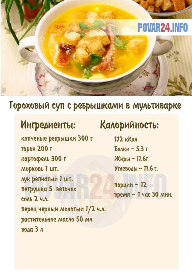 Гороховый суп в мультиварке - 9 пошаговых рецептов с фото