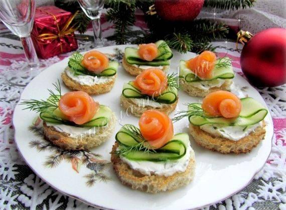 Бутерброды на праздничный стол с красной рыбой - самые вкусные варианты