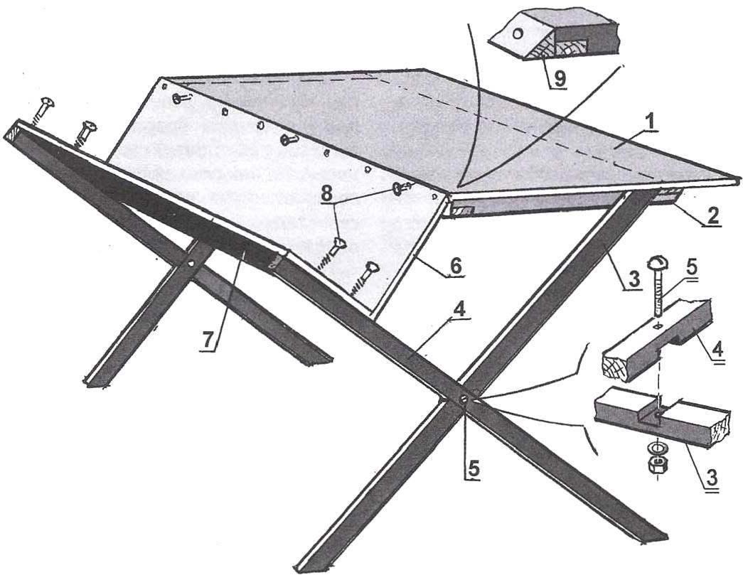 Раскладной стол своими руками: 80 фото интересных вариантов для пикника