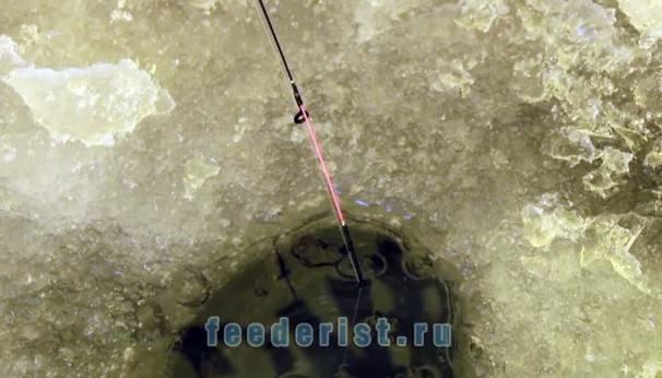 Фидер зимой со льда оснастка — ловись рыбка