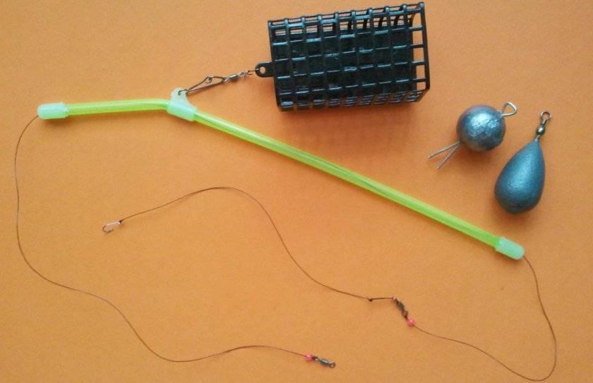 Донка с кормушкой: устройство, как вязать с донной удочкой, монтаж и оснастка