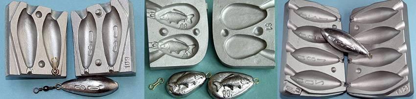 Формы для литья грузил | отливка рыболовного грузила своими руками