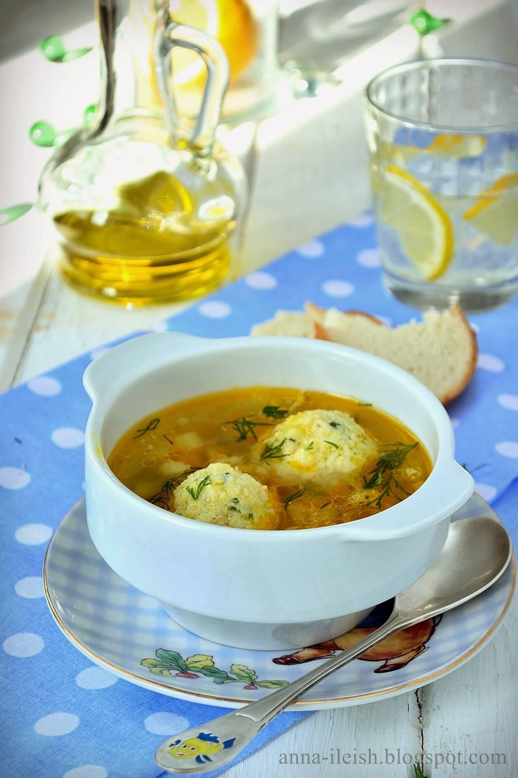 Суп рыбный с куриными фрикадельками