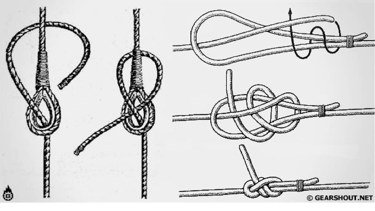 Узлы для крючков и поводков, для флюорокарбона и плетенки