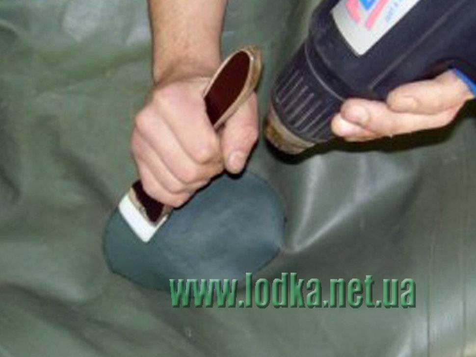 Как заклеить надувную лодку пвх своими руками (порезы, швы, фурнитуру, дно)