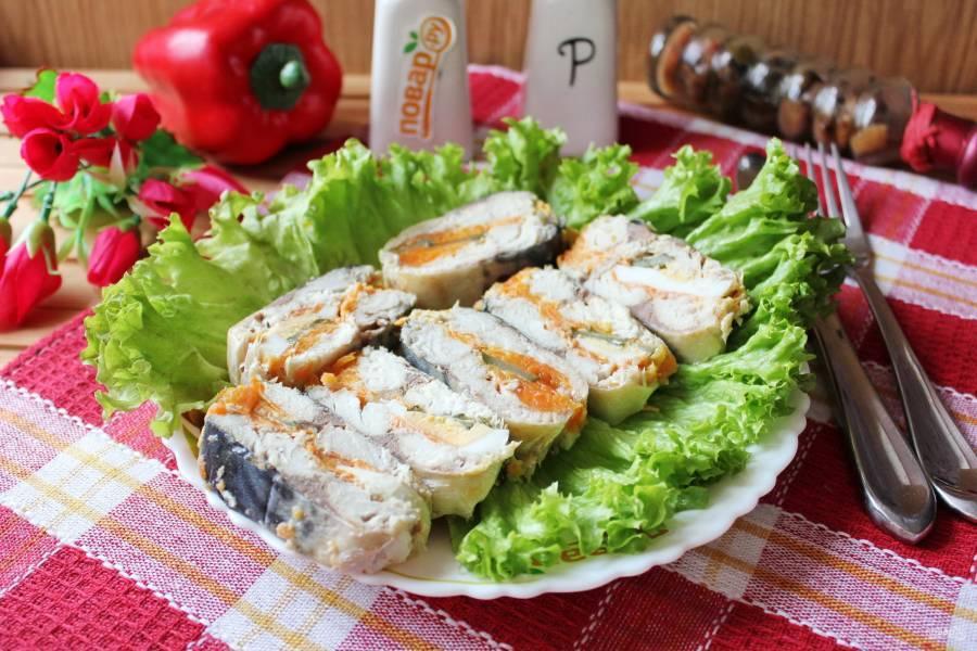 Салат на зиму из скумбрии на зиму