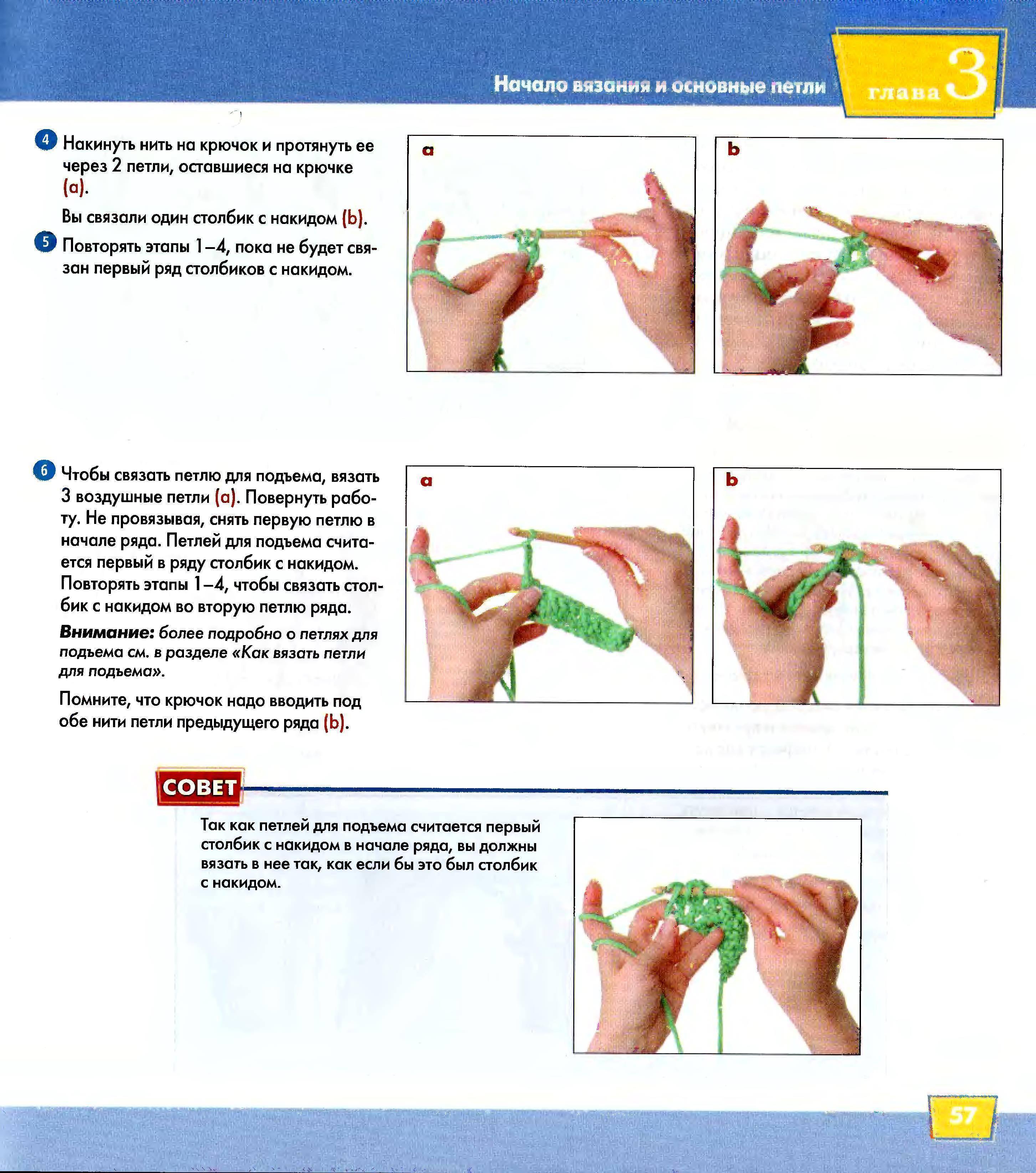 Вязание крючком для начинающих - схемы с подробным описанием - видео уроки