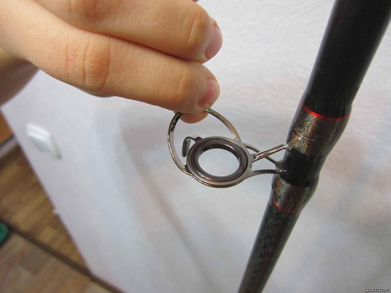 Замена пропускных колец,тюльпана-ремонт спиннинга своими руками