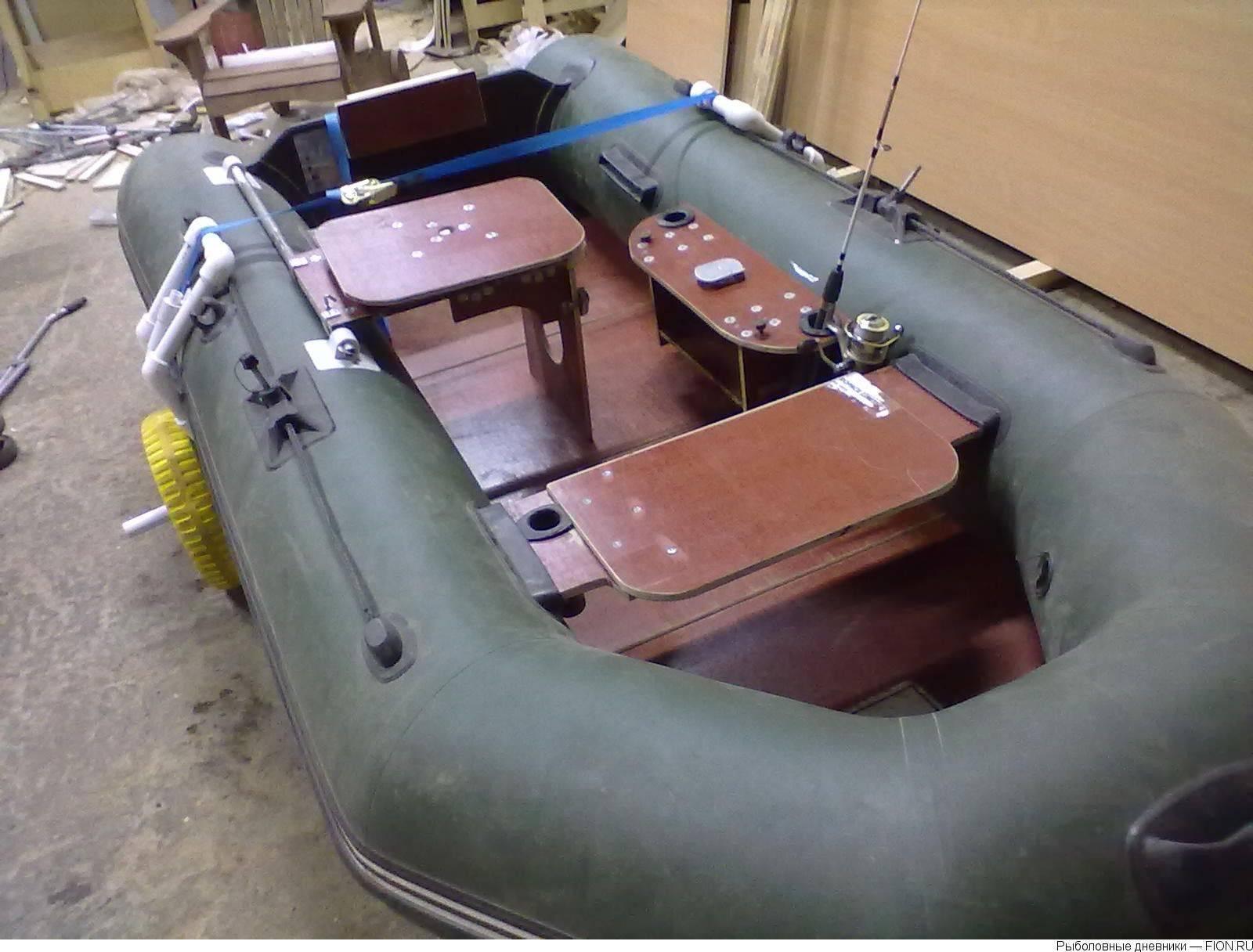 Рыбачим в свое удовольствие, сделав столик в лодку пвх своими руками. тюнинг моторных надувных лодок пвх своими руками