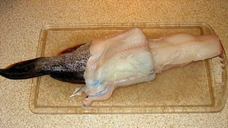 Как снять кожу с щуки
