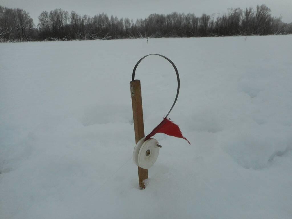 Оснастка жерлицы для зимней рыбалки в базовом исполнении