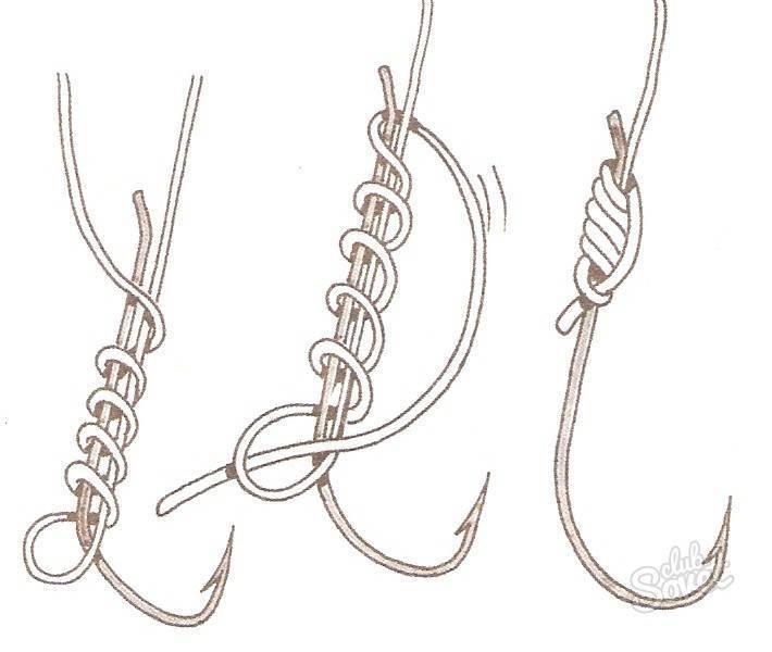 Вязание рыболовных узлов для лески, крючков и поводков