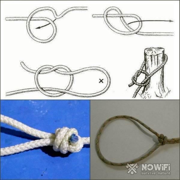 Скользящий узел: как заязать, пошаговая схема