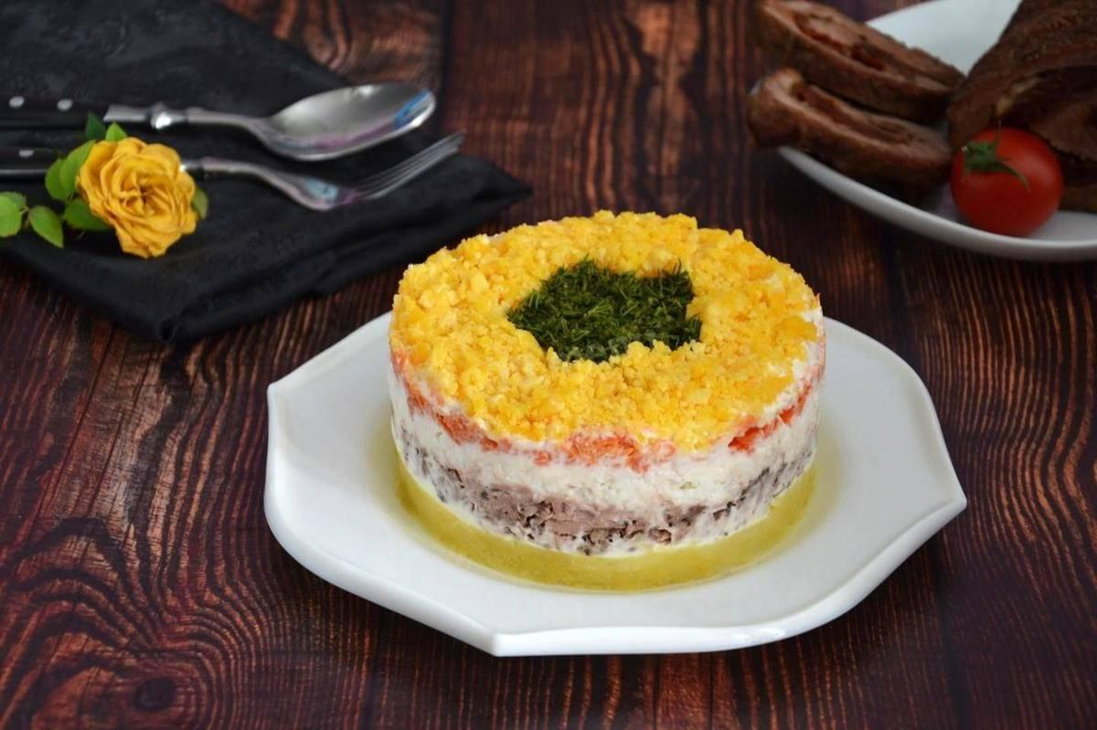 Салат мимоза с консервой — классические пошаговые рецепты