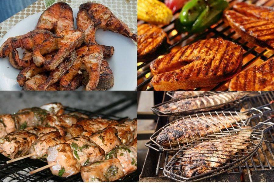 Шашлык из красной рыбы - как правильно и вкусно замариновать и приготовить по пошаговым рецептам с фото