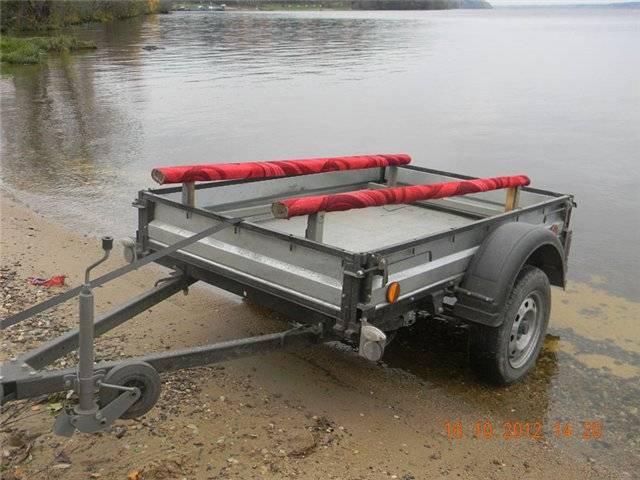 Прицеп и надувная лодка, перевозка надувной лодки на прицепе