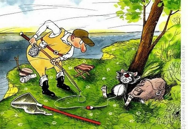 Прикольные анекдоты про рыбалку и рыбаков