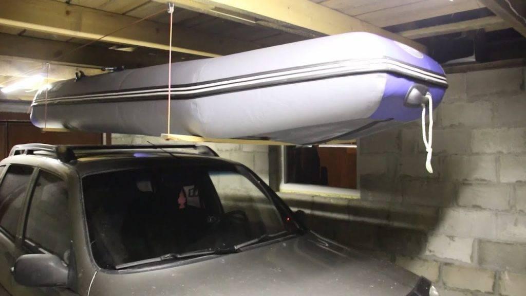 Как зимой хранить лодку пвх: как подвесить в гараже, как правильно ухаживать