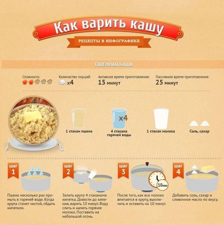Пшенная каша на молоке. как сварить вкусную рассыпчатую кашу. 6 проверенных рецептов