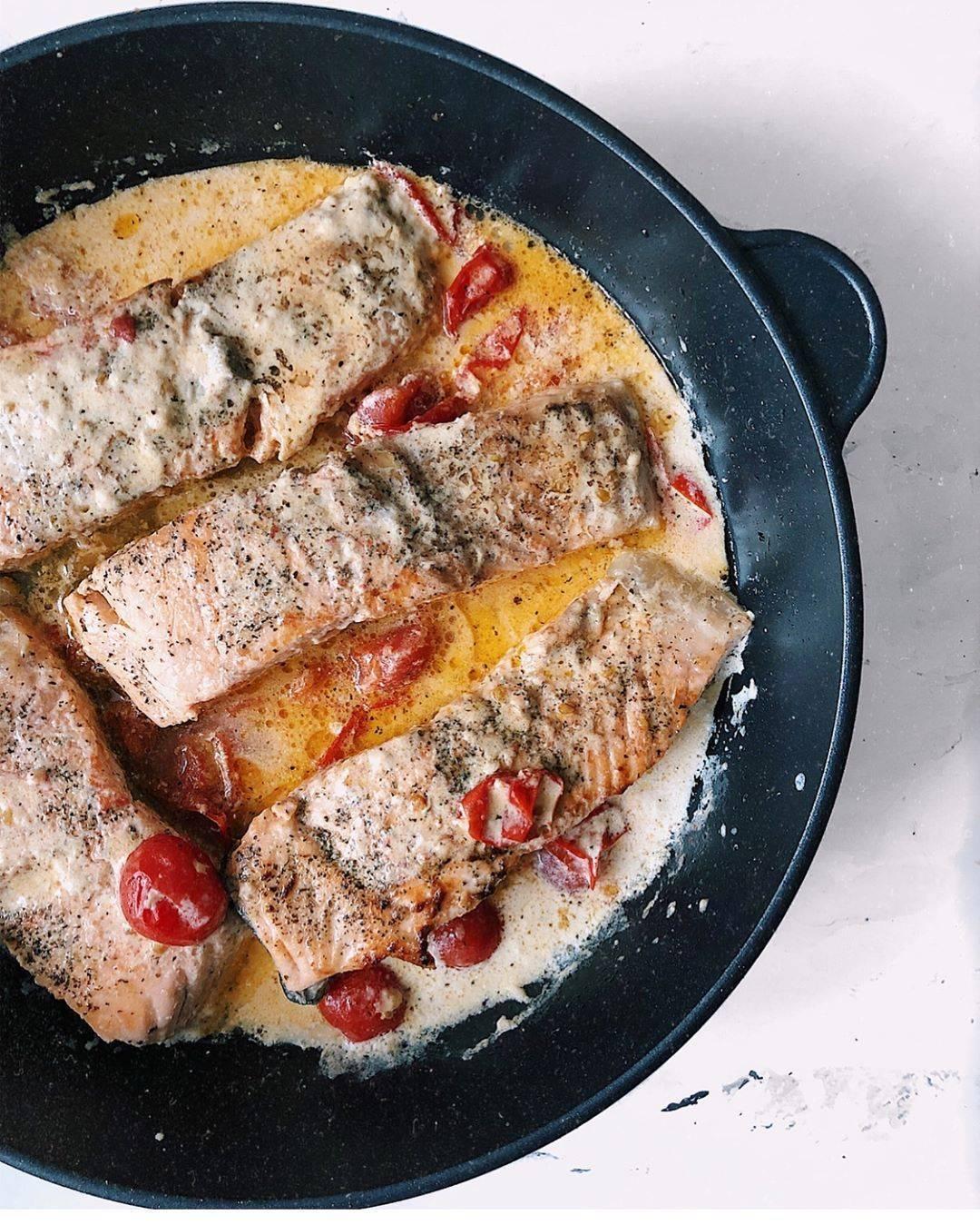 Лосось в сливочном соусе — лучшие рецепты. как правильно и вкусно приготовить лосось в сливочном соусе.