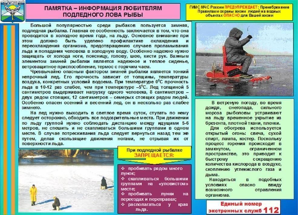 Правила безопасной рыбалки зимой