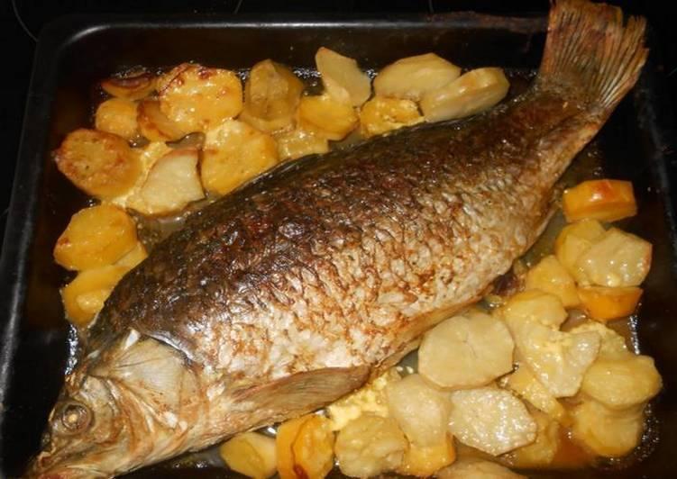 Сазан в духовке: рецепты приготовления, запекание целиком и кусочками